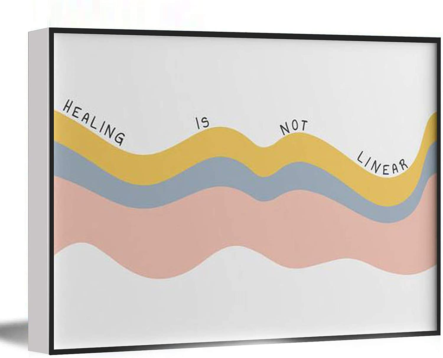 Funny Bathroom Decor,Mental Health Poster,Quote,Therapy,Counsellor,Psychologist Office Wall Art,Heal Portrait Landscape,8''x12'' Framed Modern Canvas Wall Art,