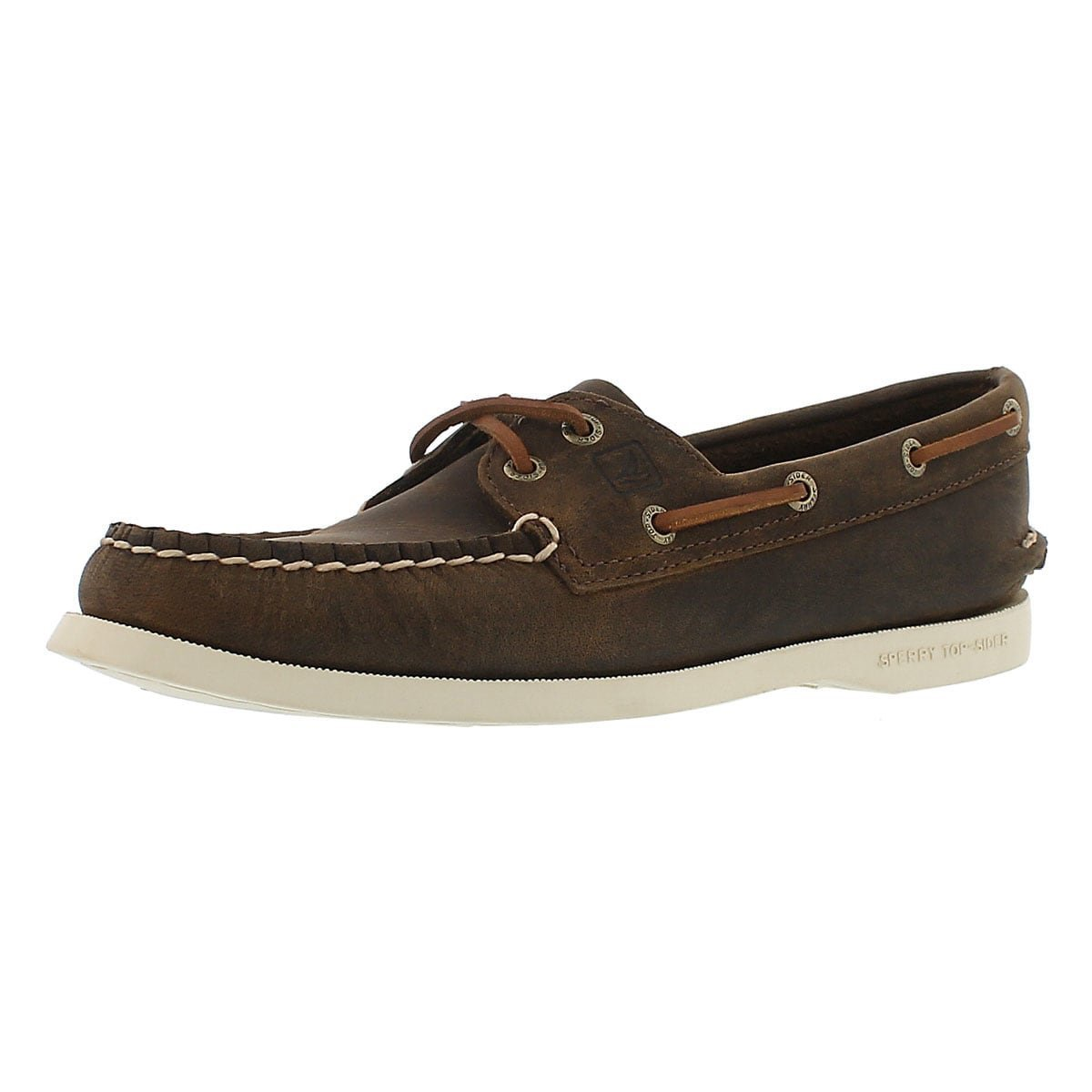 Sperry Top-Sider Women's Authentic Original Boat Shoe, Brown Distressed, 9 M US
