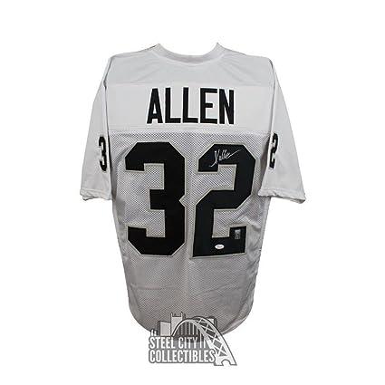 Beckett Marcus Allen Signed Custom Jersey Black Autographed w// Photo
