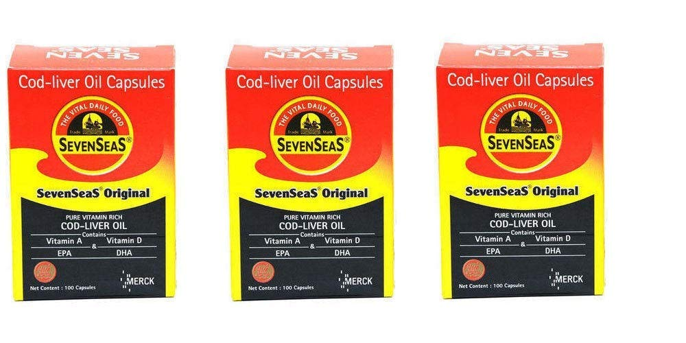 Seven Seas Cod Lever Oil Capsules-100 ct (Pack of 3)