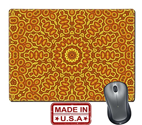 """Liili Natural Rubber Mouse Pad/Mat with Stitched Edges 9.8"""" x 7.9"""" Bright background with abstract color pattern Image ID 23146092"""