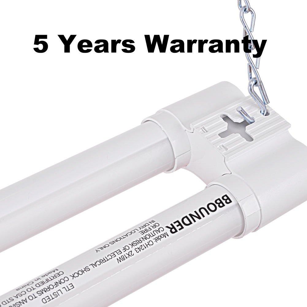 LED Shop Lights For Garage 36W 4FT BBOUNDER 3600 Lumens