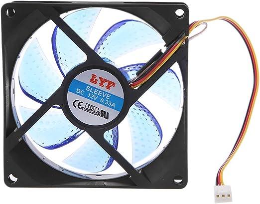 vivitoch 9025 - Ventilador de refrigeración para PC (3 Pines, 90 ...