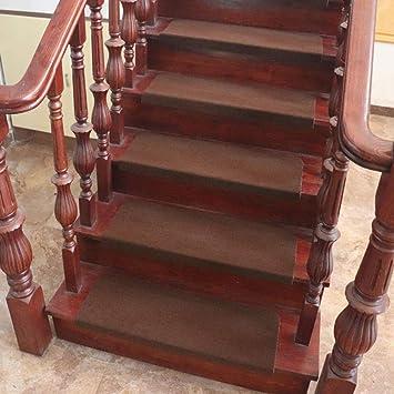 ACZZ Almohadillas para escaleras de 15 piezas, alfombrillas de protección para pisos Alfombras autoadhesivas para peldaños Alfombras para el hogar Alfombra antideslizanteBrown_21 X 80Cm,marrón,21 * 7: Amazon.es: Bricolaje y herramientas