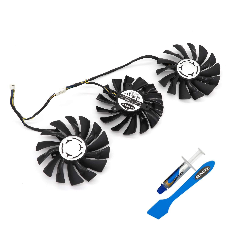 3pcs/lot PLD09210S12HH DC12V 0.40A 85mm for MSI GeForce GTX 980Ti Lightning GTX 1060 GTX 1080 Ti Duke Fan Video Card Fan
