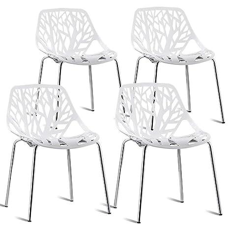 Swell Amazon Com Set Of 4 Dining Chair Birch Sapling Accent Creativecarmelina Interior Chair Design Creativecarmelinacom
