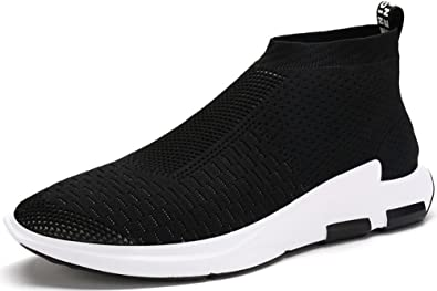691cf26e0 JIYE Men's Running Shoes Free Transform Flyknit Fashion Sneakers,  Black,6.5US-Men