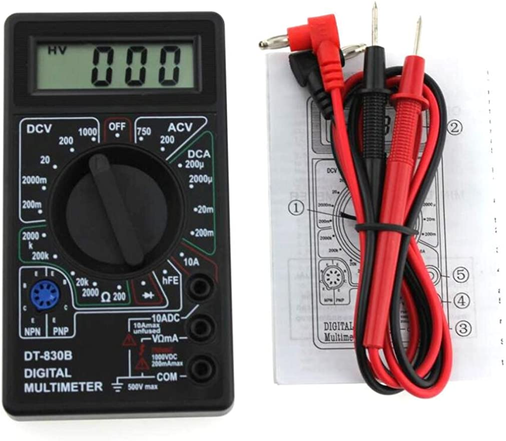 Digital LCD Multimeter Messgerät AC DC Strommesser Volt Amperemeter Thermometer