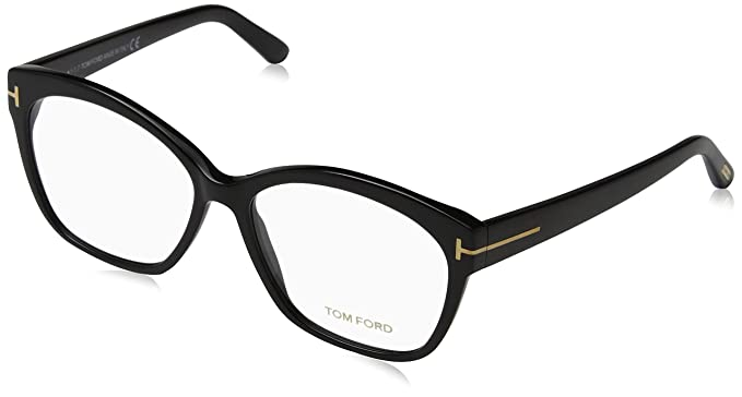 39174f2358a Image Unavailable. Image not available for. Color  Tom Ford Shiny Black  Eyeglasses FT5435 001 57