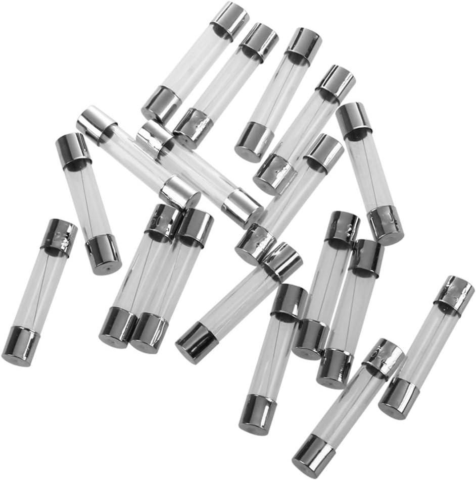 Gaoominy 20pcs Fusible de tubo de vidrio de rapida 5 amperios 250V 6mm x 30mm