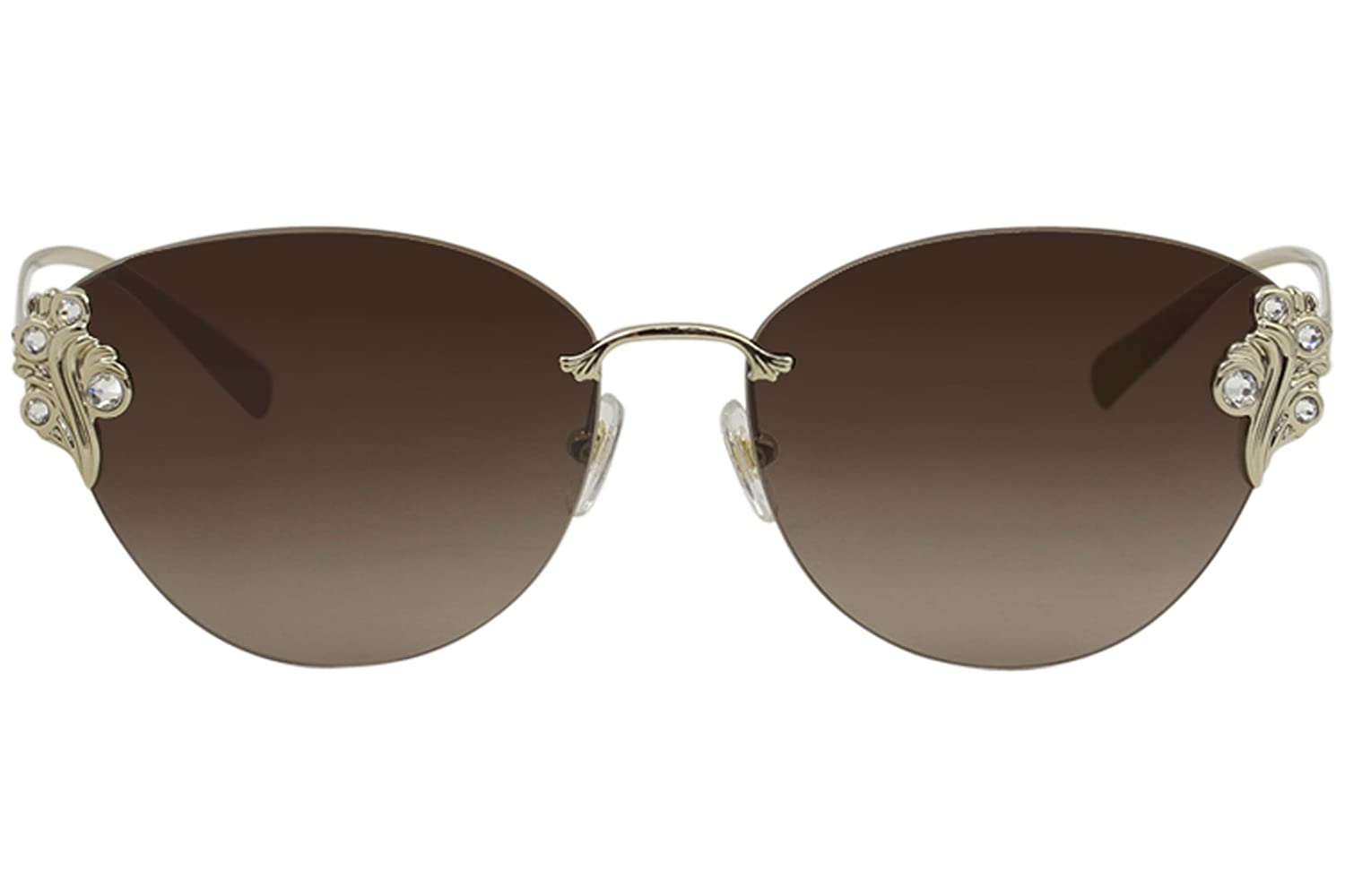 Versace VE2196B Sunglasses 125213-58 Pale Gold Frame Brown Gradient VE2196B-125213-58