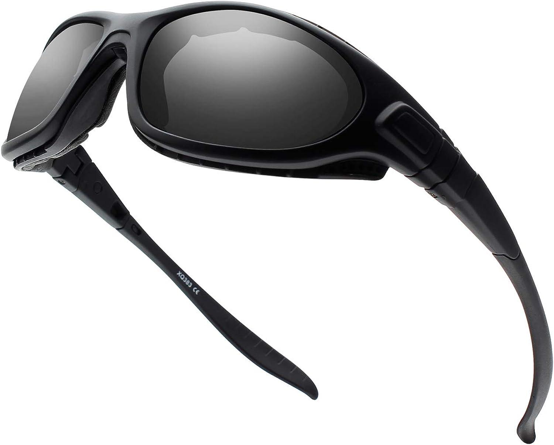 DUDUKING Gafas de Sol deportivas polarizadas Gafas de sol a prueba de polvo a prueba de viento antireflejo antiniebla Gafas de Ciclismo para Hombres y Mujeres