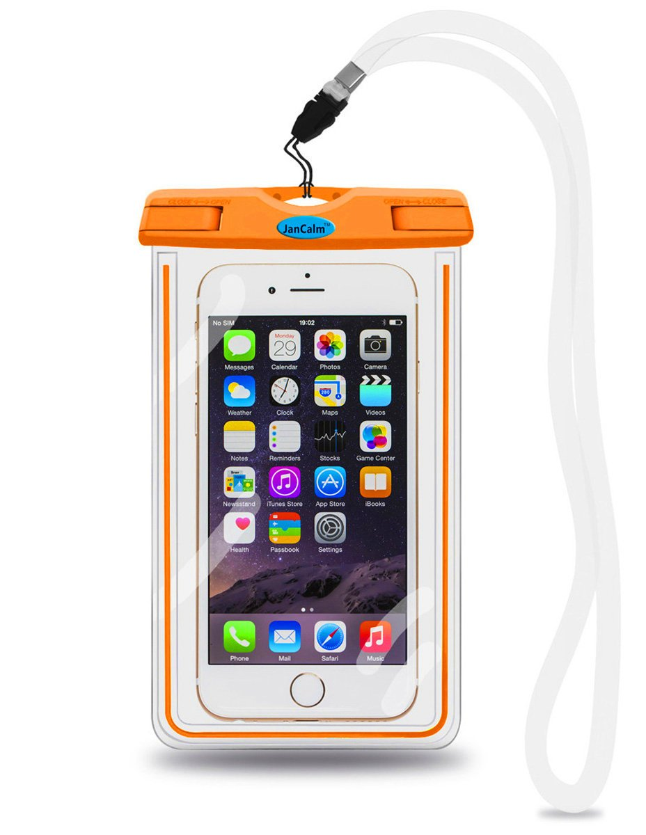 お歳暮 ユニバーサル防水ポーチケース C、JanCalm [ Luminous機能] B012IIVR3U ipx8認定保護スマートフォンクレジットカード防水バッグLifeケースのiPhone 6 Plus/ 5 6/ 5s/ 5/ 5 C/ 4s、Galaxy s6、s5、s4用など B012IIVR3U オレンジ オレンジ, コロムビアファミリークラブ:01b11471 --- phribeiro.com.br