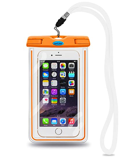 check out 0fff4 ee2d4 Universal Waterproof Pouch Case,JanCalm [Luminous Feature] IPX8 Certified  Protective Smartphone Credit Card Waterproof Bag Life Case for iPhone 6 ...