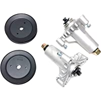 Sears Poulan Husqvarna Craftsman 2 Heavy Duty Spindle Assembly Replaces 130794 532130794 Includes 2 Pulleys for 129861 153535 173436. Thicker Cast Metal Than FSP Includes Hardware Mounting Holes Tapped