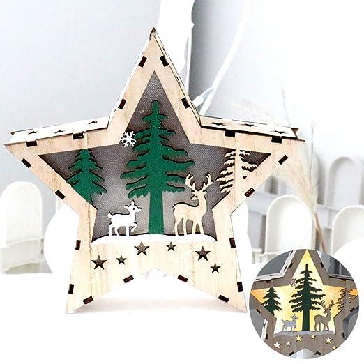 XmasTree Madera Árbol De Navidad Artificial Creativo Santa Claus ...
