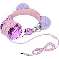 Lurrose Fone de Ouvido Infantil Com Faixa de Cabeça Ajustável Fone de Ouvido para Jogos para Pc Com Orelhas de Urso…