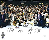 #7: Marc-Andre Fleury, Jake Guentzel, Evgeni Malkin & Matt Murray Pittsburgh Penguins 2017 Stanley Cup Champions Autographed 16