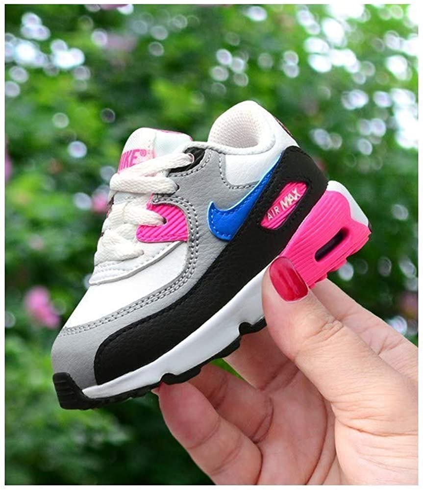 Nike Air Max 90 Leather TD WhitePhoto Blue Pink Blast 833379 107