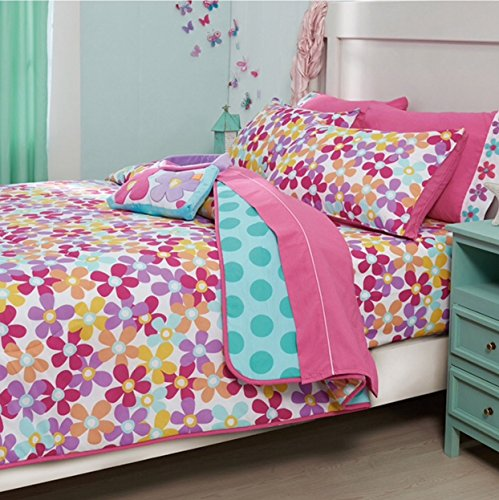 LIMITED EDITION LITTLE MERMAID KIDS GIRLS REVERSIBLE COMFORTER SET AND EMBROIDERED SHEET SET 8 PCS FULL SIZE by JORGE'S HOME FASHION (Image #3)