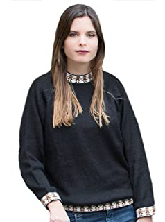 f8228d0e617bc3 Gamboa - Warm and Soft Alpaca Sweater for Women - Available in Black or Red