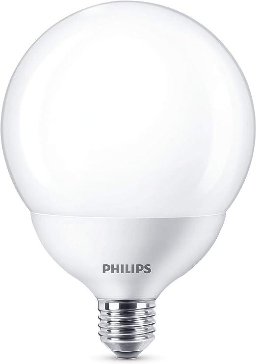 Image ofPhilips bombilla LED globo, casquillo gordo E27, 17 W equivalentes a 120 W en incandescencia, 2000 lúmenes, luz blanca neutra           [Clase de eficiencia energética A+]