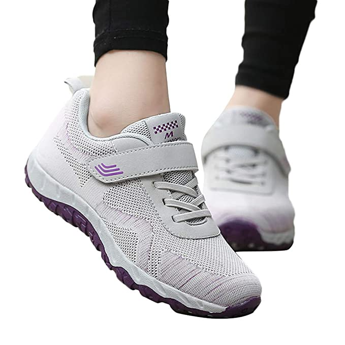 JiaMeng Zapatos Deporte para Correr Trail Fitness Sneakers Ligero Transpirable Ocio Malla Transpirable Antideslizante Zapatos Deportivos de Edad Avanzada ...
