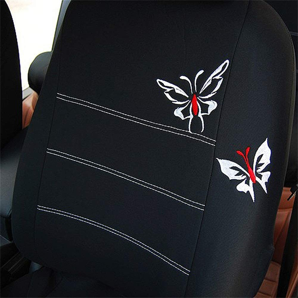 QXCOM Universal Auto Full coverage Seats Covers Flax fiber Car Seat Cover for renault captur kaptur clio 1 2 3 4 duster fluence kadjar koleos laguna 2 3 latitude logan 2 sandero stepway symbol 黑色
