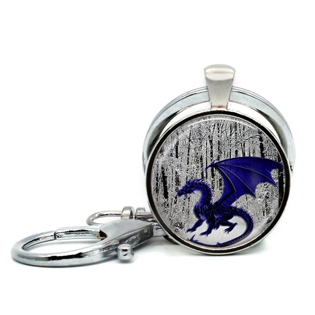 Handmade Keychain Steampunk Dragon Charm Pendant Car Circle Key Rings Gift Bag Hanging Buckle LooPoP CXC0518LooPoP-KF-LSZBS-0060