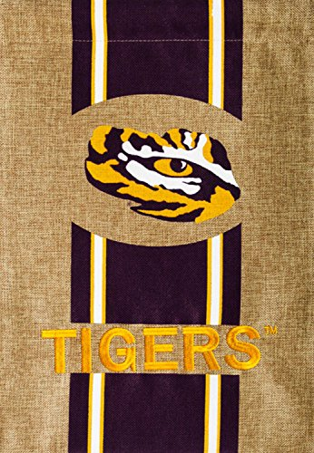 LSU Tigers Burlap House Banner (29 in. x 43 -