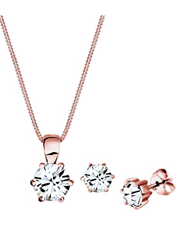 1d6fbaeb9 Elli Women's 925 Sterling Silver Xilion Cut Swarovski Crystals Pendant  Necklace