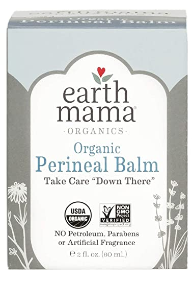 Organic Perineal Balm by Earth Mama | Naturally Cooling Herbal Salve for  Pregnancy and Postpartum