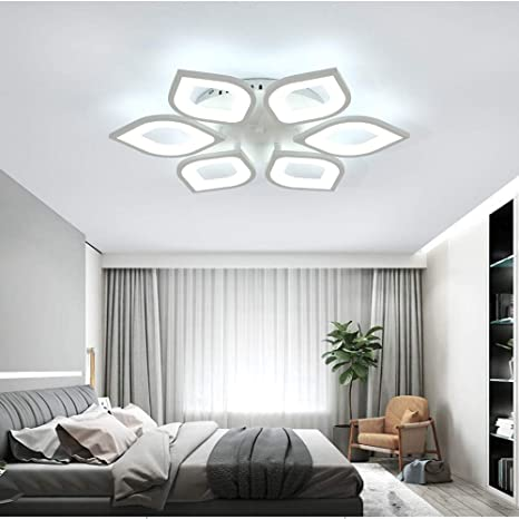 Baycheer Modern Led Ceiling Lighting Fixtures Petal Shade Flush Mount Ceiling Light Creative 6 Lights Unique Design Ceiling Fixture For Office Living Room Dinning Room Kitchen Natural Light Amazon Com