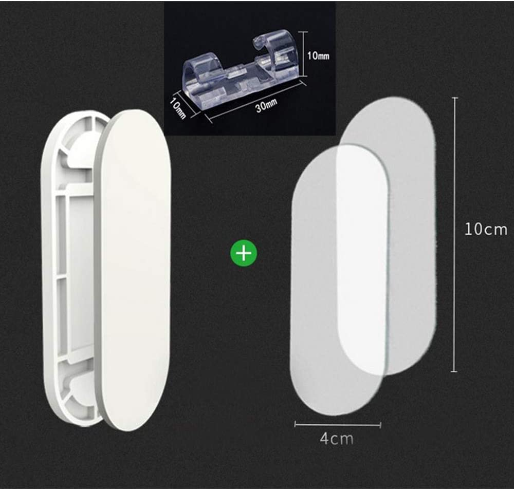 Control Remoto Hogar y Oficina 8 piezas + 20 piezas Fijador Autoadhesivo de Montaje en Pared Clips de Cable Autoadhesivos para Regleta de Enchufes Fijador de Regleta de Enchufes Enrutador WiFi