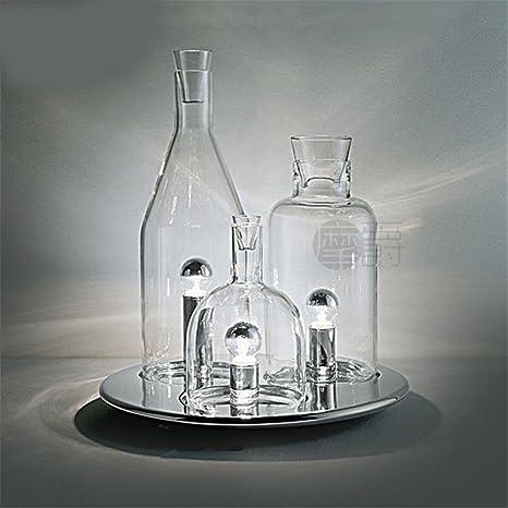 XIAOLE Lámpara de sobremesa moderna simplicidad de la lámpara de la botella de dormitorio de la