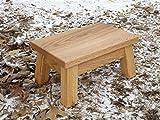 Oak step stool/ farmhouse/ foot stool/ modern/ wood step stool/ riser 10''h