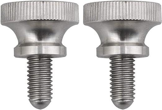 BQLZR acero inoxidable 4 tornillos de cabeza moleteada M2,5 x 6 mm