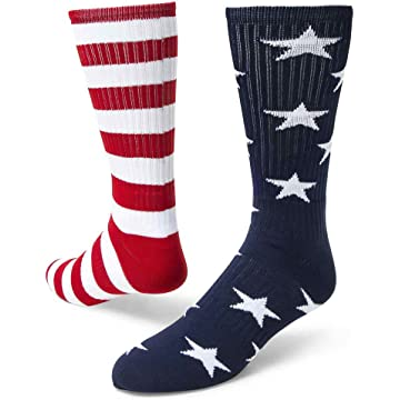 top best Red Lion Freedom Mismatched Crew Socks