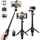 Selfie Stick Bluetooth, OYRGCIK Extendable Selfie Stick Tripod with Wireless Remote for iPhone X/XS/XS Max/XR/iPhone 8/8 Plus/7/7 Plus/6S, Samsung Galaxy S9/S9 Plus/S8/S8 Plus/S7/Note 8, GoPro Cameras