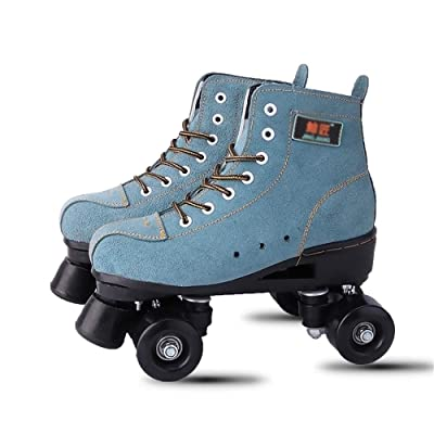 WE&ZHE Male and Female Skating Shoes Adult High-Top Quad Roller Skate,Quad Speed Roller Skates with Double-Row Wheel for Indoor and Outdoor Sports,41: Home & Kitchen
