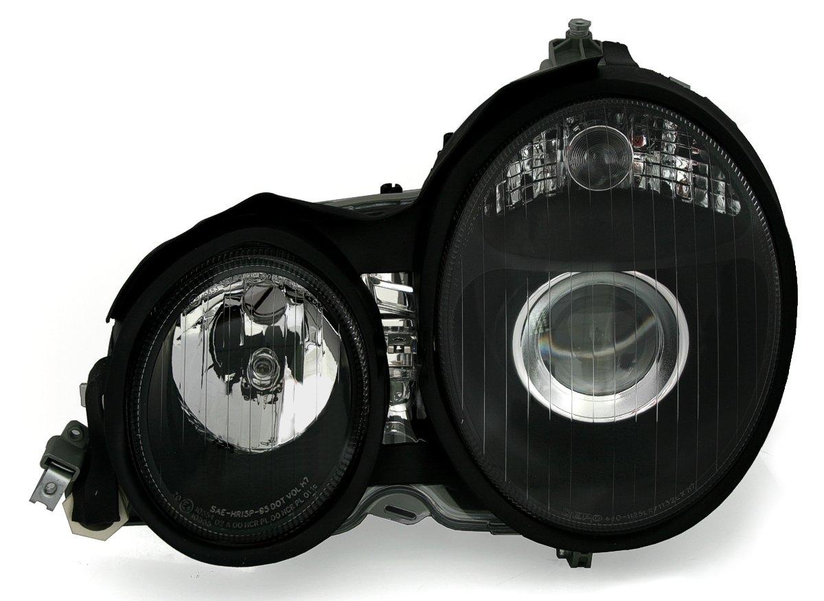Facelift-Optik Eagle Eyes Halogen Scheinwerfer Set in Klarglas Schwarz