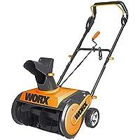 "WORX 18"" 13A WG450 Electric Snow Thrower, Black and Orange"