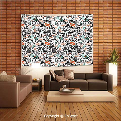 PUTIEN Wall Hanging Tapestry,Hipster Fashion Themed Pattern Clothing
