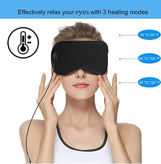 USB Eye Mask, Portable Electric Heating Pad for Eyes