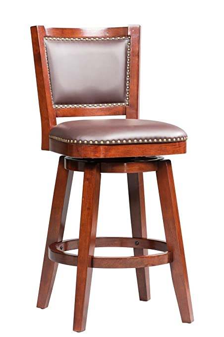 Astonishing Boraam 51929 Broadmoor Swivel Barstool 44 Inch Cherry Creativecarmelina Interior Chair Design Creativecarmelinacom