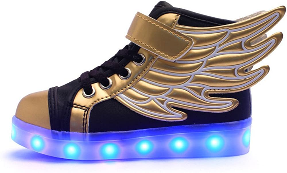 24XOmx55S99 Children LED Wings Glowing Shoes Casual Flashing Rechargeable Shoes