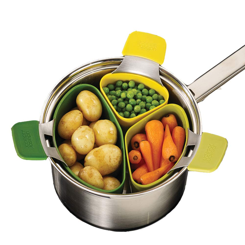 3pcs Steaming Pod with Handle, Vegetables Photos Eggs Steamer, Non Slip Space Saving Kitchen Tool (3pcs) KSLDE