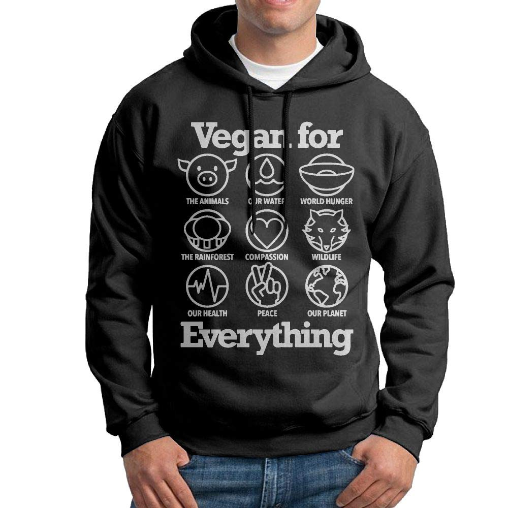 Vtw24i-5 Mens Hooded Sweatshirt Essential Vegan for Everything Cotton Fleece Hoodie for Mens