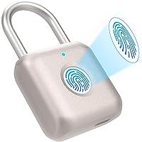 Eseesmart Candado con huella digital, candado con huella digital, candado de combinación, candado, candado biométrico de…