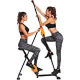 Ancheer Vertical Climber Stepper 2 In 1 Exercise Fitness Folding Climbing Machine Stair Cardio